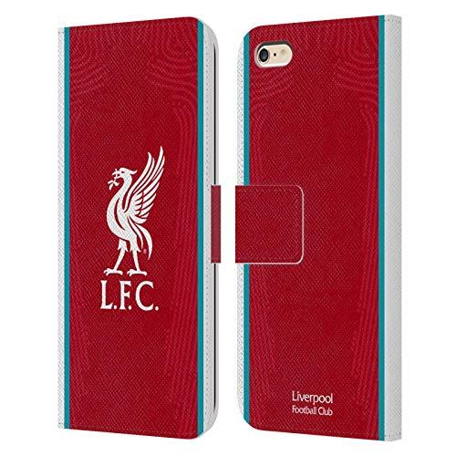 Head Case Designs Offizielle Liverpool Football Club Home 2020/21 PU Leder Brieftaschen Huelle kompatibel mit Apple iPhone 6 Plus/iPhone 6s Plus