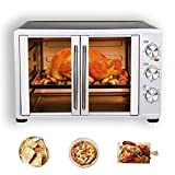 1800W Extra Large Convection Toaster Oven, 18 Slices, 14'' pizza, 20lb Turkey with Easy Open French Doors (Silver), Sold by VCF