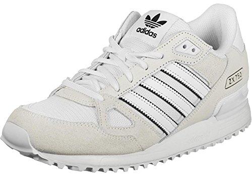 adidas ZX 750, Zapatillas de Deporte para Hombre, Blanco (Ftwbla/Ftwbla/Negbas), 38 EU