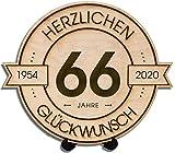 Graviertes Holzbrett Rund incl. einem kleinen, einfachen Ständer zum Hinstellen - Durchmesser 20cm natürlicher Werkstoff Holzscheibe aus 6mm dickem Sperrholz FSC Zertifiziert aus europäischer nachhaltiger Waldwirtschaft Made in Germany - wir stellen ...