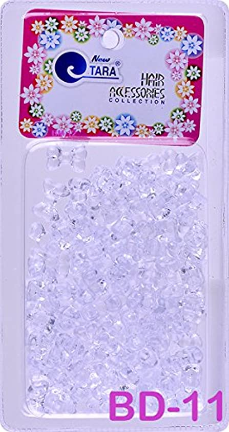 Tara Assorted Color Design Plastic Beads Selection for Braid Hair (CLEAR RIBBON MIX)