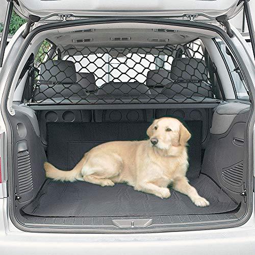 POHOVE Barriera di sicurezza per cani e animali domestici, rete di sicurezza universale per auto, barriera di sicurezza per auto, barriera di sicurezza per cani, barriera per animali domestici (nero)