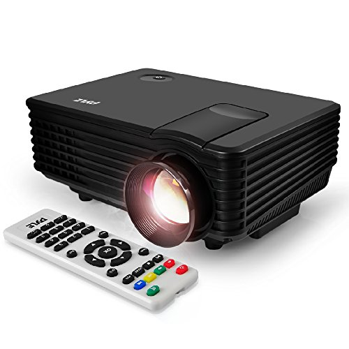 Portable Video Projector Full HD with Remote - Home Theater Projector Tv Digital Movie Projector - 1080p Support 80' Led LCD Display USB/HDMI Mac,Computer and Laptop - Pyle PRJG88