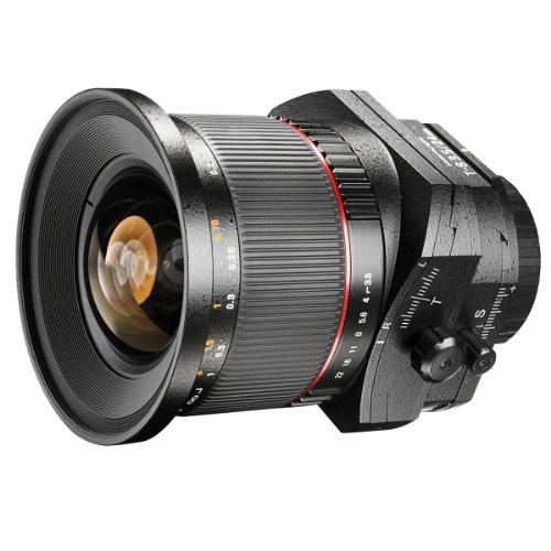 Walimex 24 mm f/3.5 T-S ED AS UMC - Objetivo para Nikon (Distancia Focal Fija 24mm, Apertura f/3.5-22, diámetro: 82mm) Negro