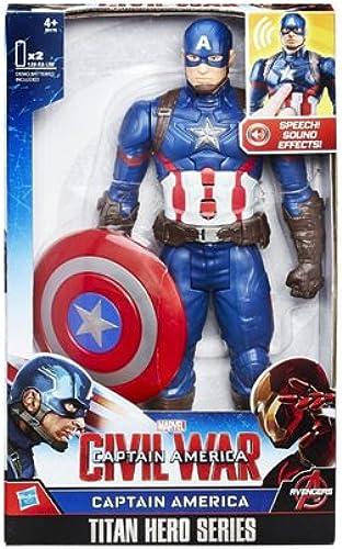tiendas minoristas Marvel B6176 - El Primer Primer Primer vengador - Guerra Civil - Titan héroe de la Serie - la Figura Capitán América con Efectos de Sonido (Idioma Inglés)  protección post-venta