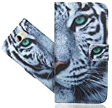 FoneExpert® Huawei Y6 II Compact / Huawei Y5 II Handy Tasche, Wallet Hülle Flip Cover Hüllen Etui Hülle Ledertasche Lederhülle Schutzhülle Für Huawei Y6 II Compact / Huawei Y5 II