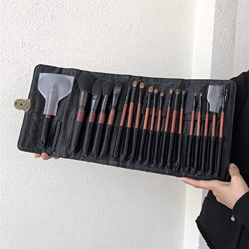 19 Ensembles De Pinceaux De Maquillage Spéciaux Pour Les Maquilleurs, Ensemble Complet De Pinceaux En Poils D'Animaux Professionnels En Laine, 19 Sacs De Ceinture Professionnels