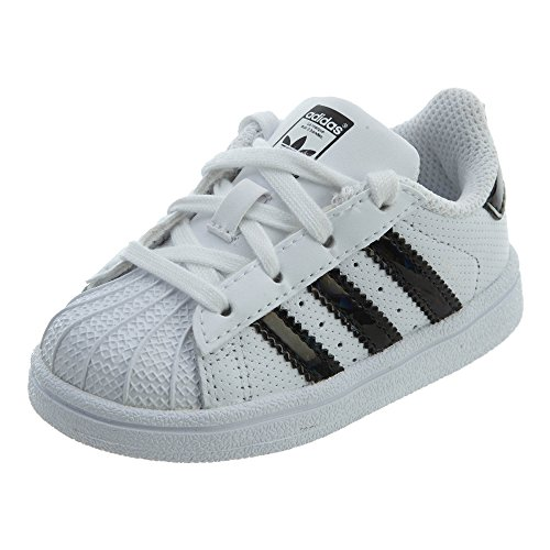 adidas Unisex-Kinder Superstar I Sneaker, weiß/schwarz (White/core Black/White), 40 M EU Niño