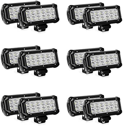 Nilight 12PCS 6 5 36W Flood LED Light Bars LED Work Lights Off Road Super Bright for Cabin Boat product image