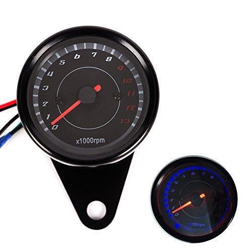 iztor Backlight LED Night Light Tachometer Tacho Gauge Speedometer 12V Motorcycle 13000 RPM