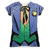 Batman Dc Comics superhéroe disfraz de Joker Junior la parte delantera T-Shirt Tee