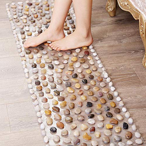 Why Choose Transparent Foot Massage Pad Sitting, Floor Mat Dual Purpose, Natural Pebbles Cozy Foot M...