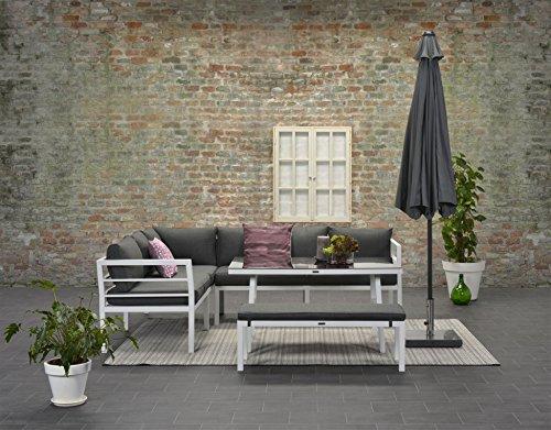 Garden Impressions Hohe Dinning Aluminium Lounge Blakes White, inklusive XL Bank und wasserabweisender Kissen