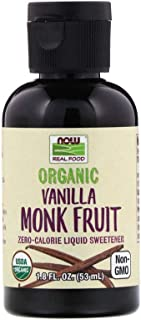 Now Foods Organic Liquid Monk Fruit, Vanilla, 1.8 Fl Oz