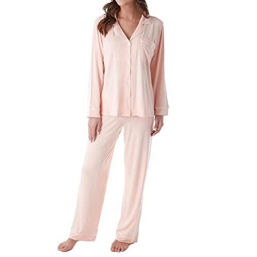a46d1caed Eberjey Women s Gisele Two-Piece Long Sleeve   Pant Pajama Sleepwear Set