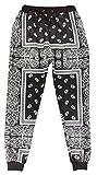 Unisex Harem Bandana Paisley Sweatpants Joggers Hip Hop Pants Trousers (L)