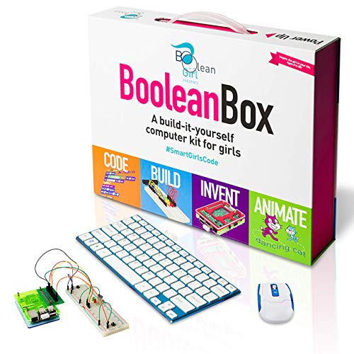 Boolean Box | A STEM Educational Computer Kit, Teaches Coding and Electronics, Includes Scratch, Minecraft, and Python | Build a computer and electronic circuits, code and animate | For girls 8 and up