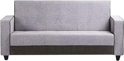 CasaStyle Ebernia 3 Seater Fabric Sofa (Light Grey)