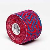 Tape de Sixtus Italia–Dream K Tribe 5cm x 5m–Color Rojo de color azul–el Deporte Tape con efecto Kinesio–más rápido y cómodo Tape Vendaje