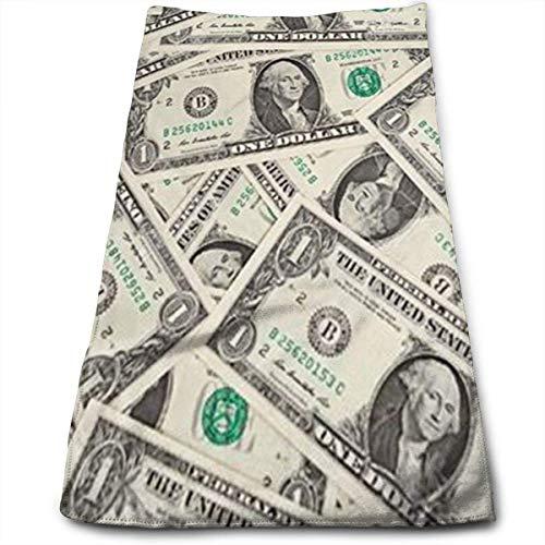 Tyueu Dollar Bill Model Super Soft - Toalla para la cara, lavable a máquina y altamente absorbente, para el hogar, el gimnasio o los deportes.