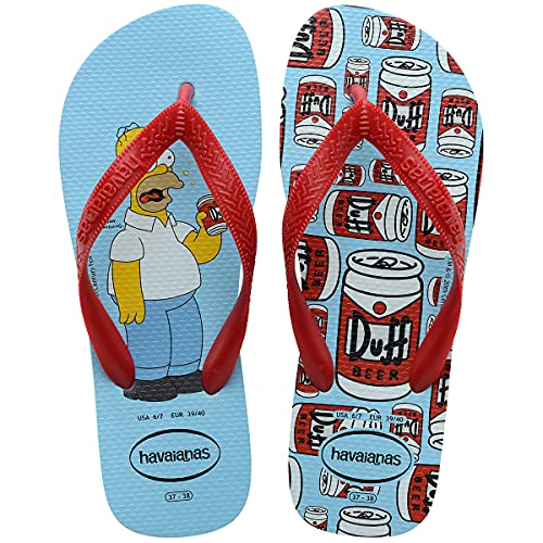 Havaianas Simpsons, Chanclas Unisex Adulto, Agua Azul, 40/41 EU