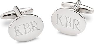 Personalized Modern Oval Cufflinks - Personalized Cufflinks - Monogrammed Cufflinks - Custom Cufflinks
