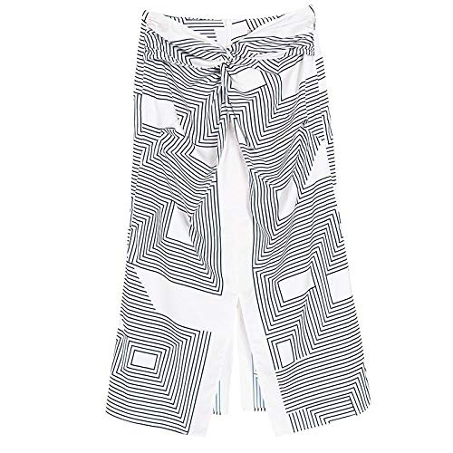 MIBKLPG Rokken Voor Dames Mode Zomer Geometrische Print Rok Met Hoge Taille Split Slanke Midirokken