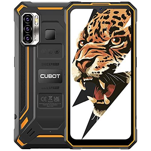 CUBOT Kingkong 5 Outdoor Handy, IP68 Wasserdicht, 4GB+32GB Smartphone ohne Vertrag, 6.088 Zoll Display, 5000mAh Android 11, 48MP Kamera, 4G Dual SIM, Schwarz