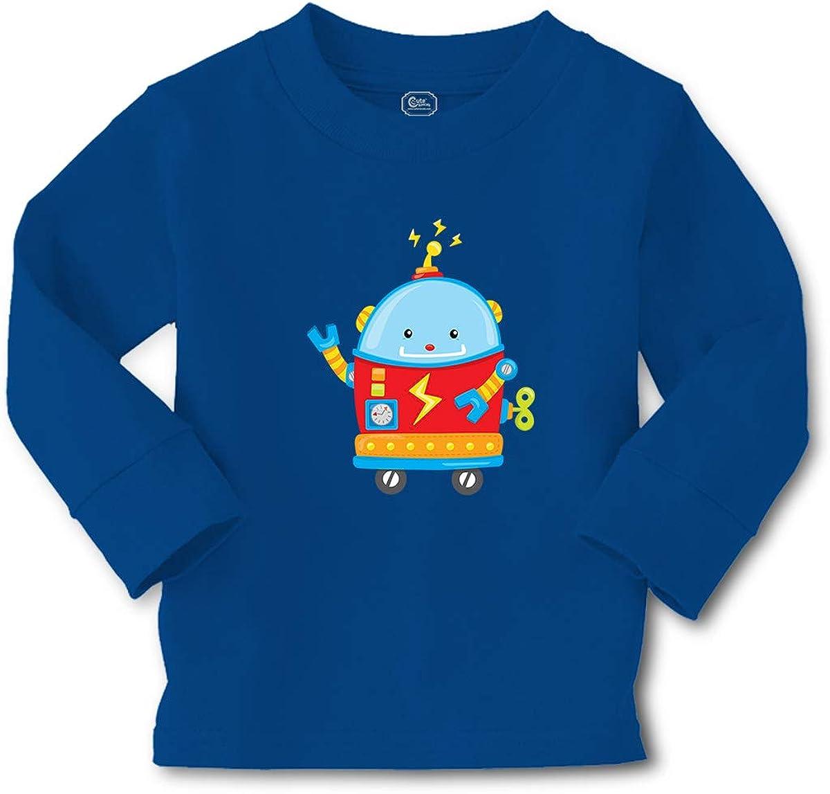 Cute Rascals Kids Long Sleeve T Shirt Small Robot Robotics Engineering Boy & Girl Clothes