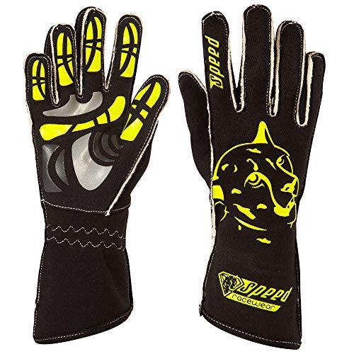 Speed Racewear - Motorsport Handschuhe - Karthandschuhe Melbourne - Schwarz/neongelb (9)
