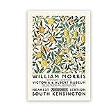 CGDZ William Morris Impresión de lienzo El cartel de la exposición del Museo Victoria y Albert London Underground Art Nouveau Pintura Decoración de pared 40X60cm Sin marco