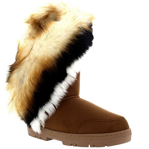 Holly Womens Tall Tassel Winter Cold Weather Snow Rain Boots - 11 - TAN42 EA0398