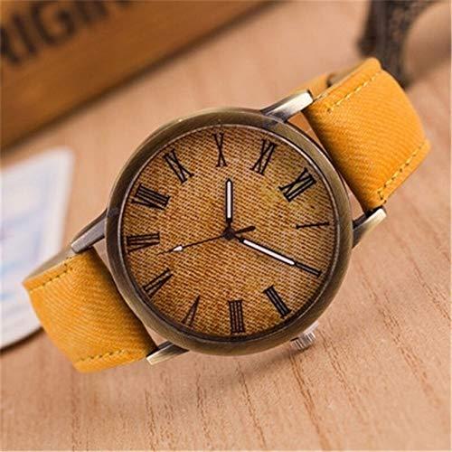 Xyamzhnn Uhren for Frauen, Dame Uhr, Uhr der Dame, treu Uhr, Art- und Uhren for Frauen, Quarz-Uhr, Ehefrau Zusehen, personifizierte Uhr, Denim-Entwurfs-Leder-Bügel-Quarz-Uhren for Frauen Paar
