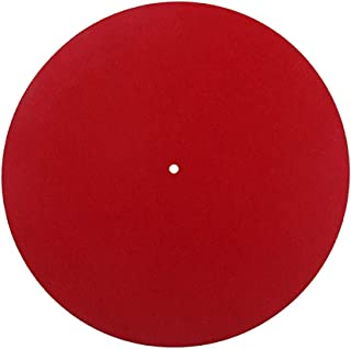 D DOLITY Felt Slip Mat Record Player 30cm Red For Universal Phonograph Replacement