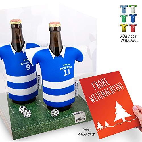 Weihnachts-Geschenk   Der Trikotkühler   Das Männergeschenk für Duisburg-Fans   Langlebige Geschenkidee Ehe-Mann Freund Vater Geburtstag   Bier-Flaschenkühler by Ligakakao