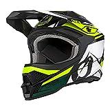 O'NEAL | Casco de Motocross | MX Enduro | Shell ABS, Cumple con el estándar de Seguridad ECE 22.05, Airflaps™ Compatible | Casco 3SRS Stardust | Adultos | Negro Blanco Amarillo | Talla XL