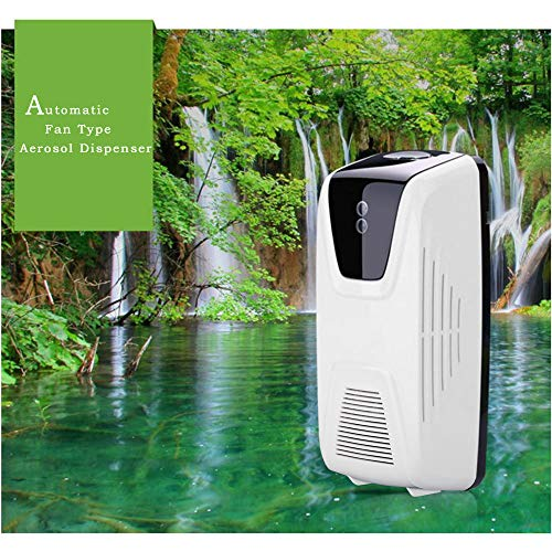 Blusea Air Freshener Dispenser Automatic, Fan Type Scent Fragrance Dispenser with Light Sensor and Timer, Essential Oil or Perfume Refillable Aerosol Dispenser