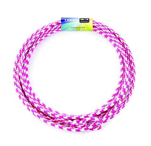 Fantastic Prices! Just Jump It Lil Lariat- Junior Lasso- pre-tied-20', Raspberry and White