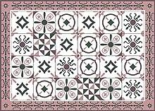Deco&Fun - Alfombra Vinílica Hidráulica Zule Rosa 50x70cm -Alfombra de Vinilo hidráulica - Alfombra Cocina hidráulica - Alfombras de Vinilo - Alfombras PVC