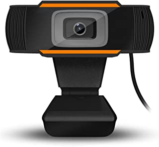 1080P HD Webcam with Dual Microphones - Webcam for Gaming Conferencing, Laptop or Desktop Webcam, USB Computer Camera for Mac Xbox YouTube Skype OBS, Free-Driver Installation Fast Autofocus Orange