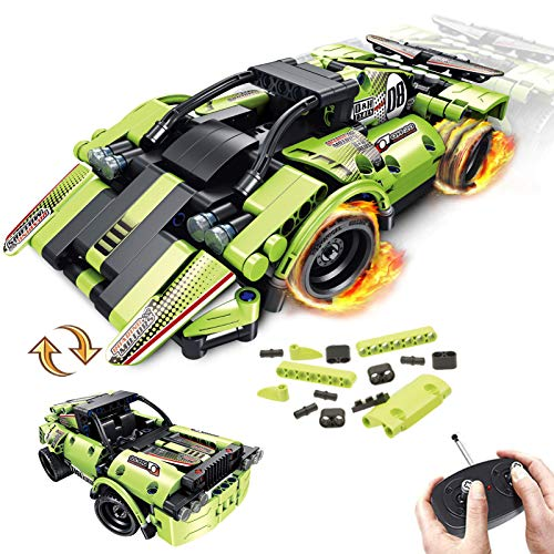 STEM Building Toys for Kids with 2-in-1 Remote Control Racer
