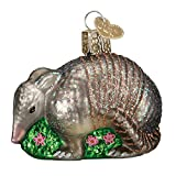 Old World Christmas Wildlife Animals Glass Blown Ornaments for Christmas Tree Armadillo