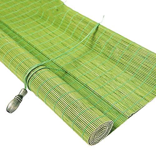 Bambusvorhang Grün Außenterrasse Rollläden, 85% Lichtfilterung Privatsphäre Bambus Vorhang für Gazebo Pergola, 80cm / 100cm / 120cm Breit Jalousie ( Color : W×H , Size : 1.2x1.4m )