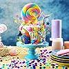 Round Tissue Paper Table Confetti Dots for Mermaid Birthday Party Decoration, 1.76 oz (Purple Teal Confetti, 2.5 cm) #3