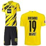 PUMA Borussia Dortmund BVB Heimset 2020 2021 Home Kit Sponsor BL Logo Kinder Julian Brandt 19 Gr 164