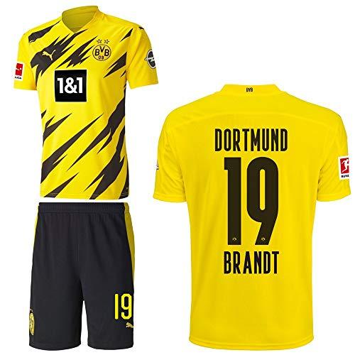 PUMA Borussia Dortmund BVB Heimset 2020 2021 Home Kit Sponsor BL Logo Herren Julian Brandt 19 Gr XXXL