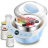 43 ° Joghurtbereiter mit konstanter Temperatur + beheizter griechischer Joghurthersteller mit PTC,...