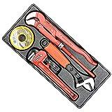SET attrezzi idraulici professionali YATO - Pinza Pappagallo, Giratubi, chiave regolabile 250 mm, nastro teflon PTFE 15 m x 190 mm per sigillare filetti