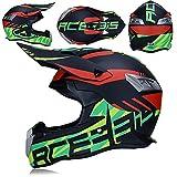 MCRUI Casco de Bicicleta de montaña con máscara de Gafas Motocross Casco Offroad Motocicleta Casco Set Enduro Downhill ATV Protección de Seguridad,XXL