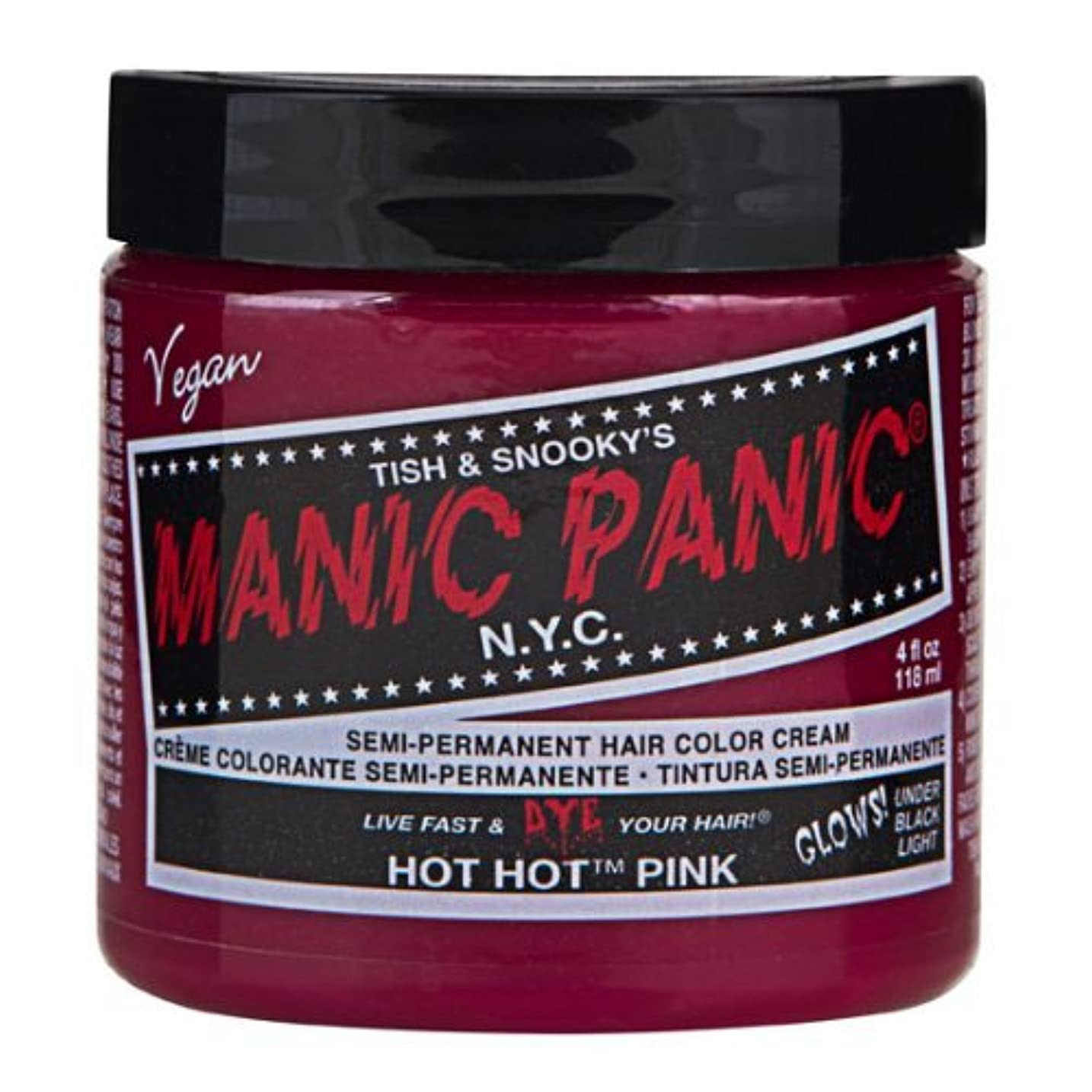 彼女自身迅速圧縮するマニックパニック MANIC PANIC ヘアカラー 118mlホットホットピンク ヘアーカラー